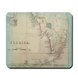 Antique florida map Mouse Pads