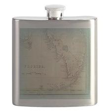 Florida Keys Antique Map Flask