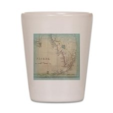 Florida Keys Antique Map Shot Glass