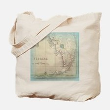 Florida Keys Antique Map Tote Bag
