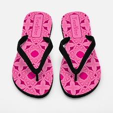 Elegant Pink Pattern Personalized Flip Flops