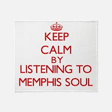 Cool Memphis radio Throw Blanket