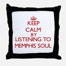 Memphis radio Throw Pillow