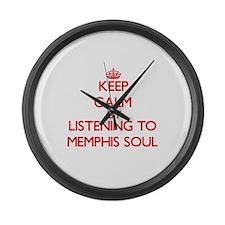 Cool Memphis radio Large Wall Clock