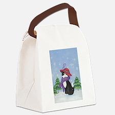 Black society Canvas Lunch Bag