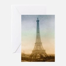 The Eiffel Tower In Paris Greeting Cards