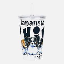 Japanese Chin Lover Acrylic Double-wall Tumbler