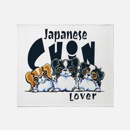 Japanese Chin Lover Throw Blanket