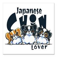 "Japanese Chin Lover Square Car Magnet 3"" x 3"""