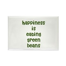 happiness is eating green bea Rectangle Magnet