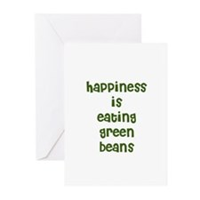happiness is eating green bea Greeting Cards (Pack
