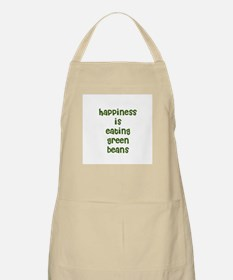 happiness is eating green bea BBQ Apron