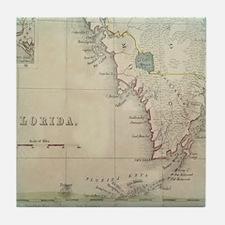 Florida Antique Map Tile Coaster