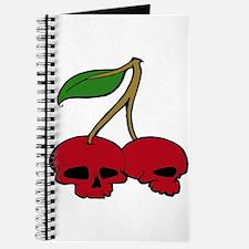 Skull Red Cherries Journal
