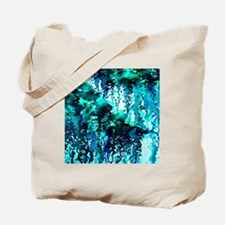 The Perfect Storm - Turquoise and Black,  Tote Bag