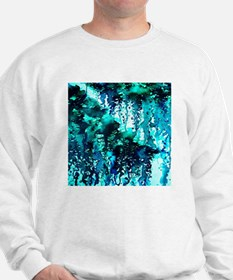 The Perfect Storm - Turquoise and Black Sweatshirt