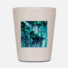 The Perfect Storm - Turquoise and Black Shot Glass