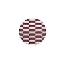 Pink and Brown Checkerboard Mini Button