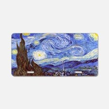 Van Gog The Starry NIght Ta Aluminum License Plate