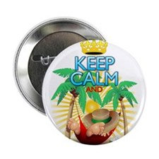"""Keep Calm and Relax on Hammock! 2.25"""" Button"""