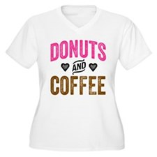 Donuts & Coffee Plus Size T-Shirt
