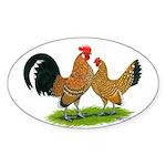 Mille Fleur Dutch Bantams Oval Sticker