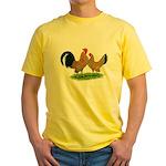 Mille Fleur Dutch Bantams Yellow T-Shirt