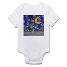 Starry night black cat Infant Bodysuit