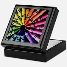 Crayon Color Wheel Keepsake Box