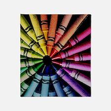 Crayon Color Wheel Throw Blanket