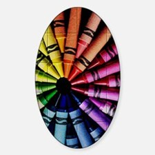 Crayon Color Wheel Decal