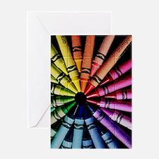 Crayon Color Wheel Greeting Card