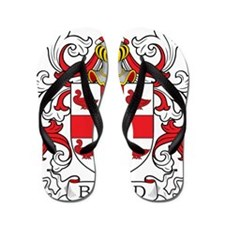 Funny Family crests coat of arms Flip Flops