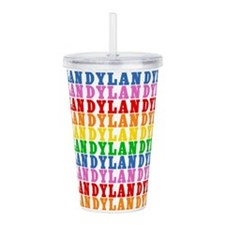 Rainbow Dylan Pattern Acrylic Double-wall Tumbler