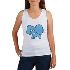 Light blue elephant Tank Top