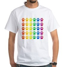 Rainbow Paw Print Pattern Shirt