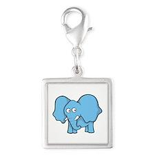Light blue elephant Charms