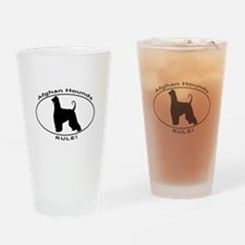 AFGHAN HOUND OVAL Drinking Glass