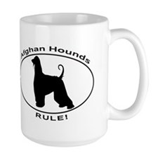 AFGHAN HOUND OVAL Mugs