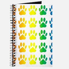 Cute Rainbow paws Journal