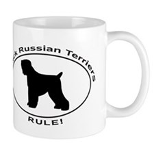 BLACK RUSSIAN TERRIERS RULE Mugs