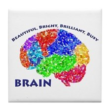 Bbbb Brain Tile Coaster