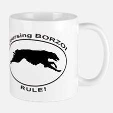 BORZOI coursing Mugs