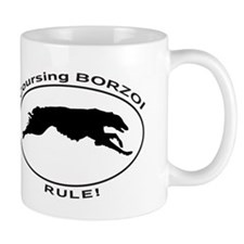 BORZOI coursing Mugs
