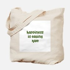 happiness is eating kale Tote Bag