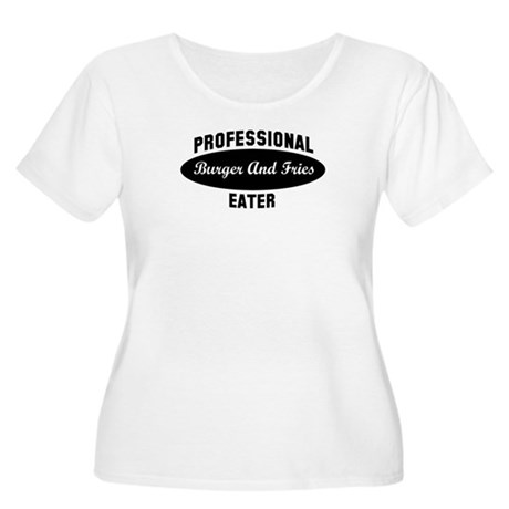 Pro Burger And Fries eater Women's Plus Size Scoop