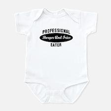 Pro Burger And Fries eater Infant Bodysuit