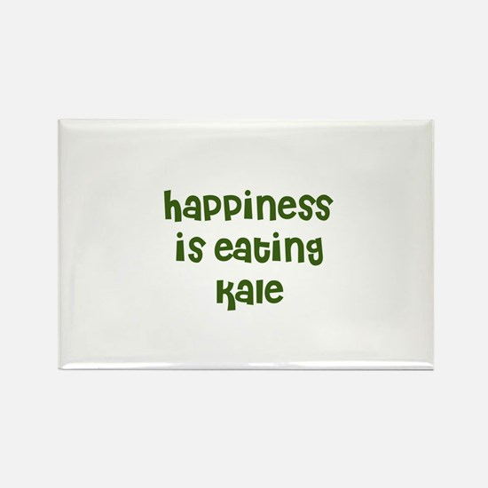 happiness is eating kale Rectangle Magnet
