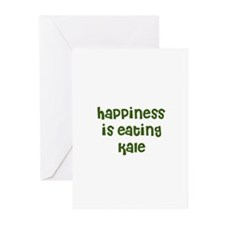 happiness is eating kale Greeting Cards (Package o