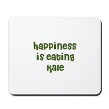 happiness is eating kale Mousepad